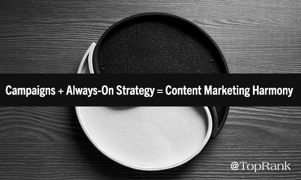 Campaigns + Always-On Strategy sama dengan Content Marketing Harmony