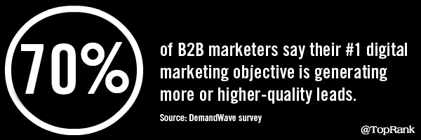 In a current survey conducted by DemandWave, 70% of B2B marketers said their particular No . 1 digital marketing goal is to generate more or higher high quality leads.