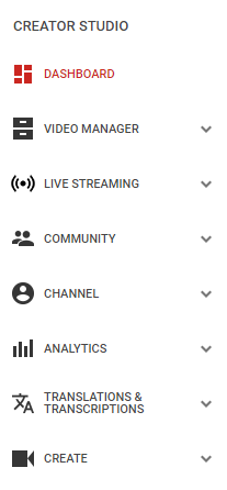 "Access your YouTube analytics with the ""Creative Studio"" drop-down in your Youtube . com account."