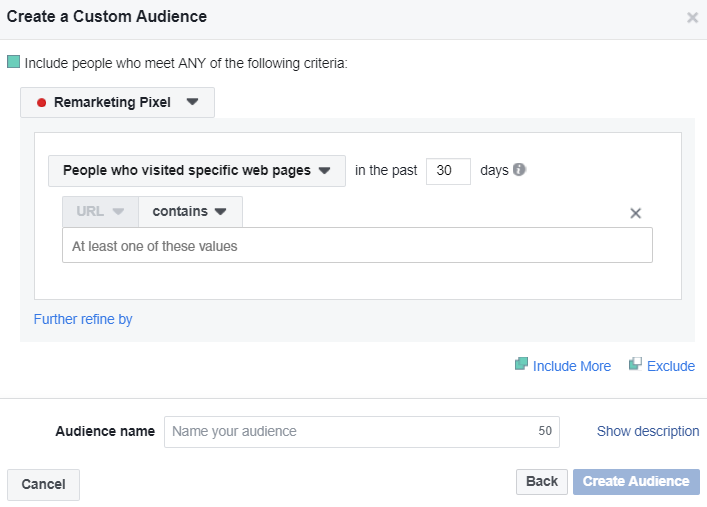Facebook's -pixel allows you to target specific visitors from the website