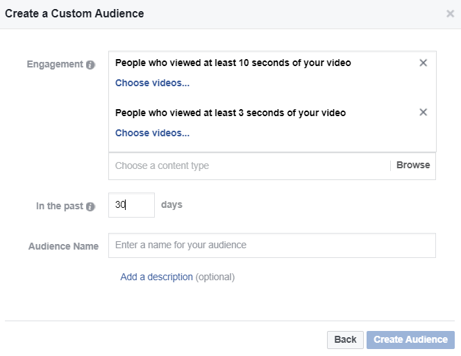 Marketers may target leads based on how long they are yet to watched a video