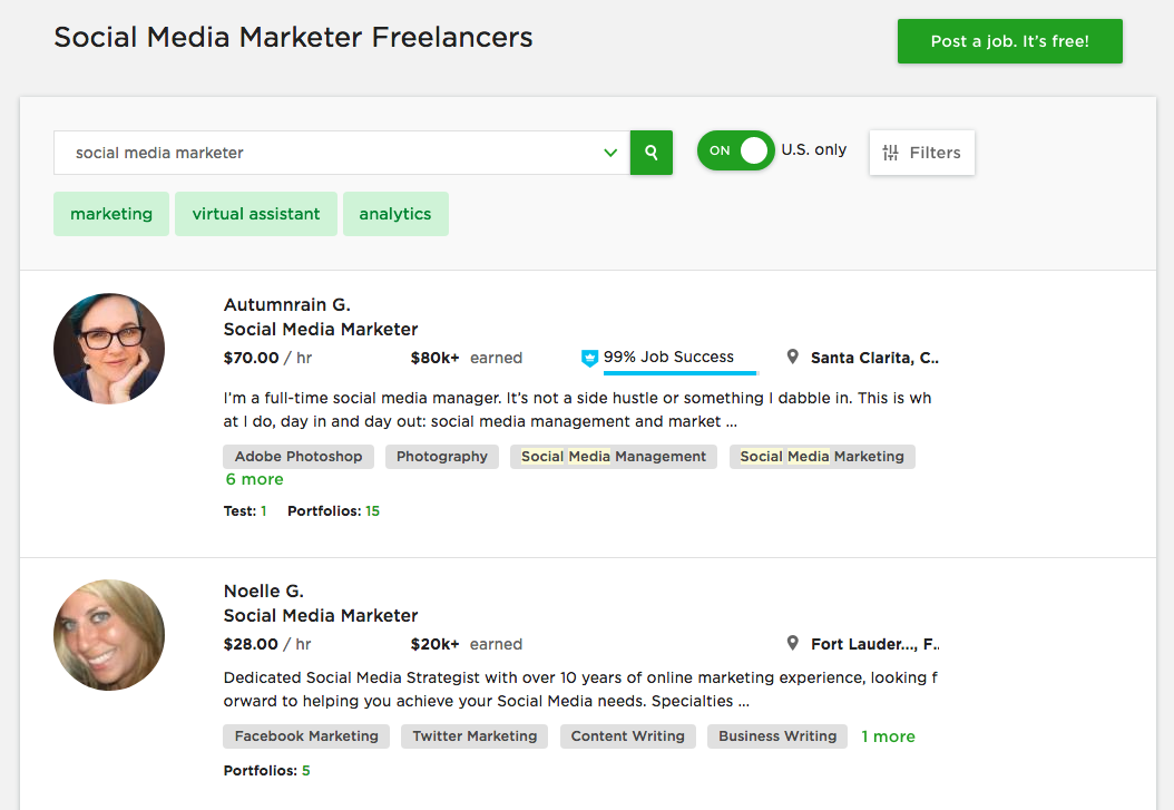 upwork social networking freelancers