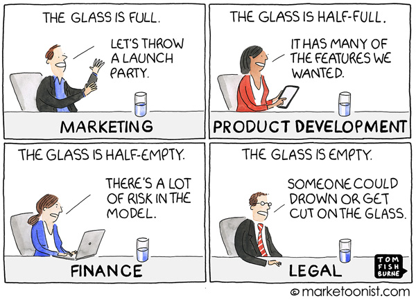 Glass Half Complete Marketoonist Cartoon