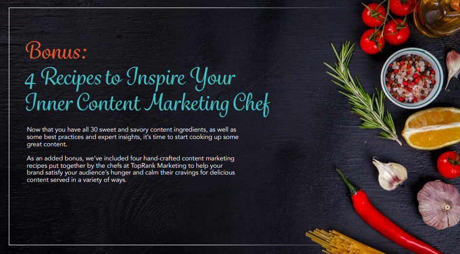 Content Marketing Recipe intended for Inner Chef