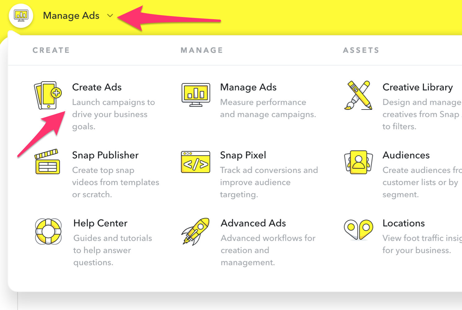 Create an advertisement in Snapchat