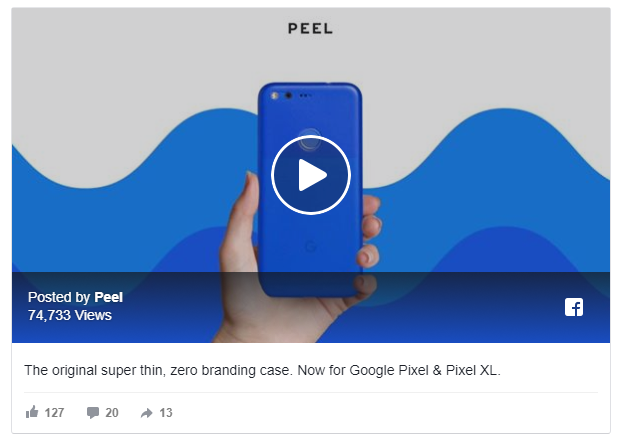 Peel Cases Facebook Ad
