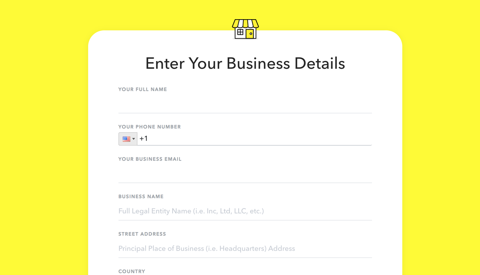 Sign on with Snapchat for Business