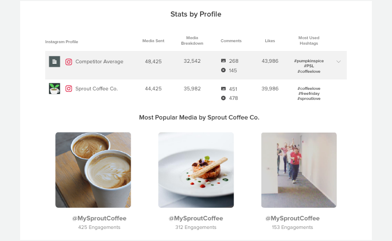 instagram competitor report stats simply by profile