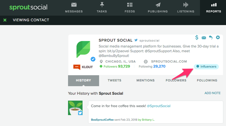 sprout interpersonal vip contact