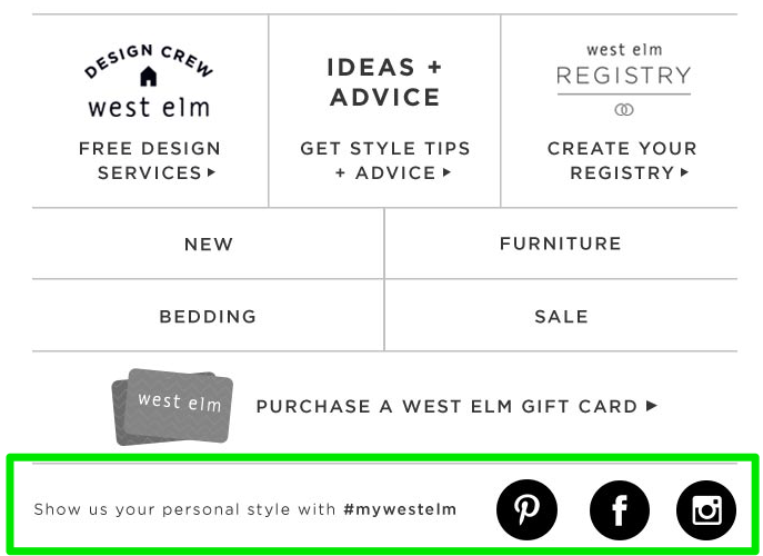 west elm newsletter