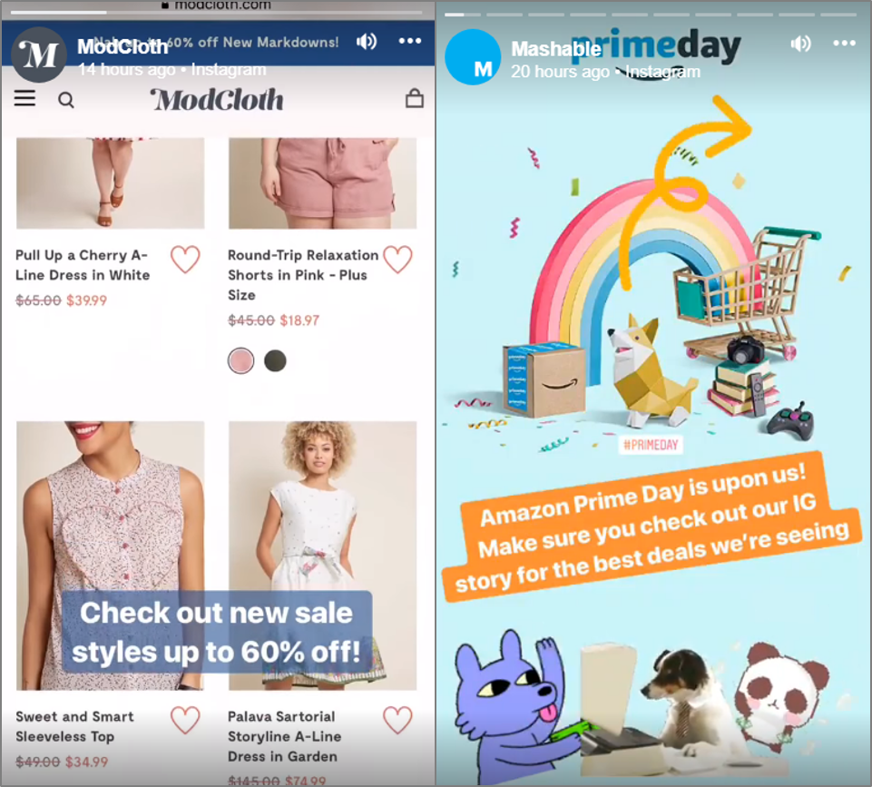 Facebook Stories Examples