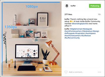 Example associated with Vertical Content on Instagram