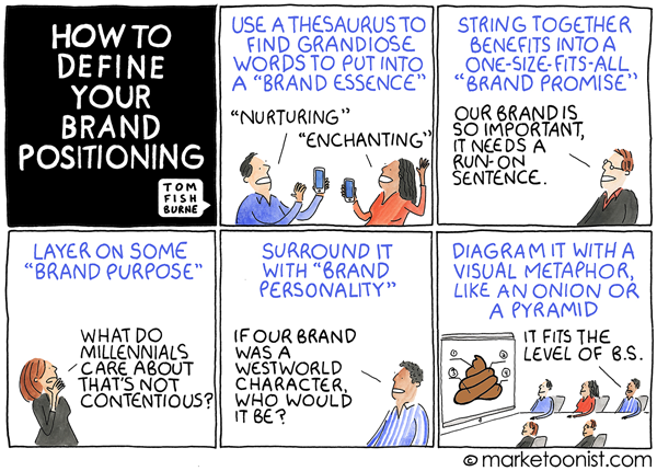 Marketoonist Mary Fishburne Brand Positioning Cartoon