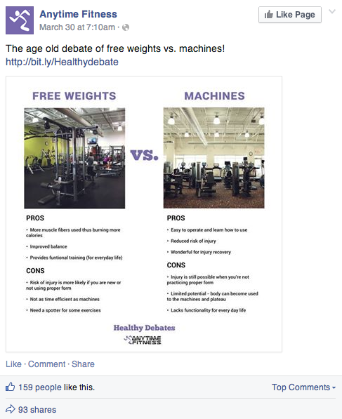 anytime fitness facebook post