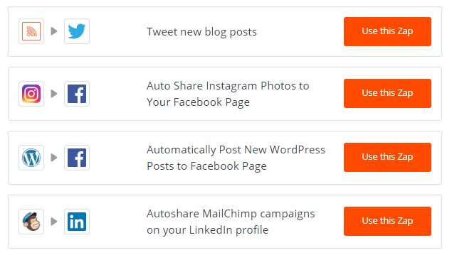 Zapier makes it easy for brand names to automate their social marketing efforts