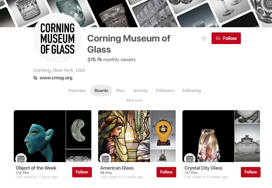 corning museum cup pinterest profile