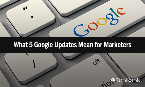 2018 Google Updates & The actual Mean for Marketers