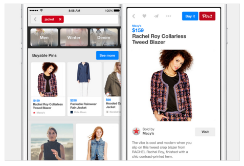 Example of a Pinterest Campaign by Macy's