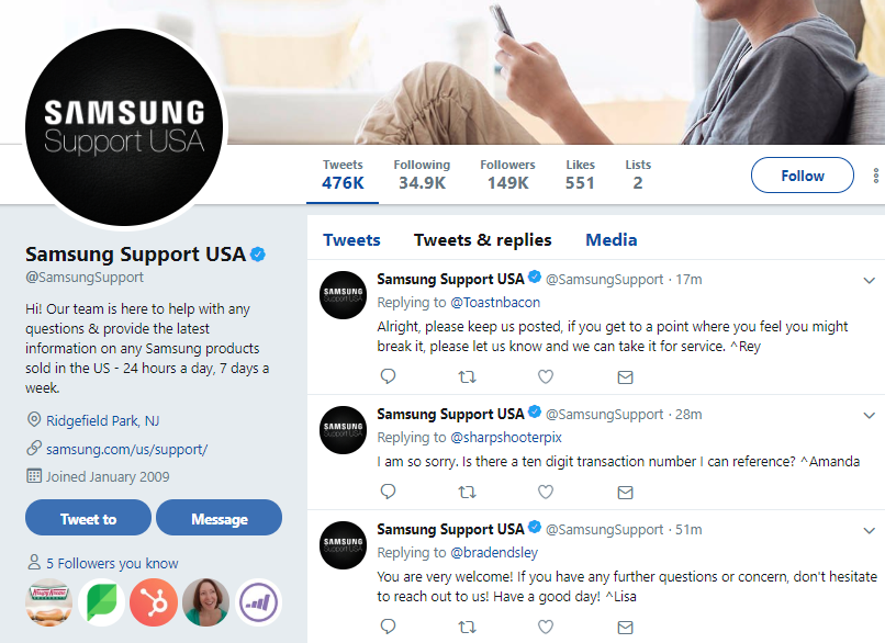 Some brands have dedicated webpages for Twitter customer service