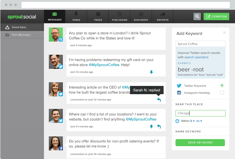 A Twitter dashboard allows brands to organize and react to customer concerns in one place
