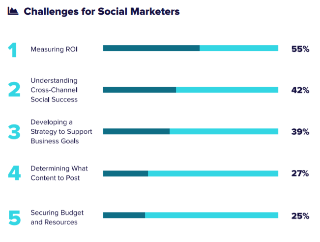 Measuring social ROI is the top problem of over half of all interpersonal marketers