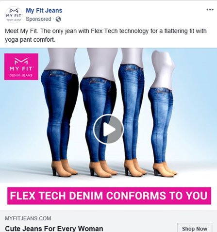 use compelling textual content in facebook ad images