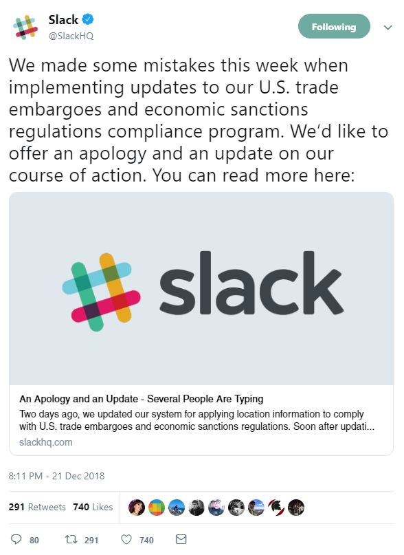Brands producing apologies isn't a sign of weak point to customers in 2019: that is a sign of transparency