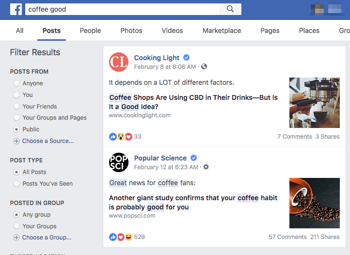 example of fb search as a monitoring tool