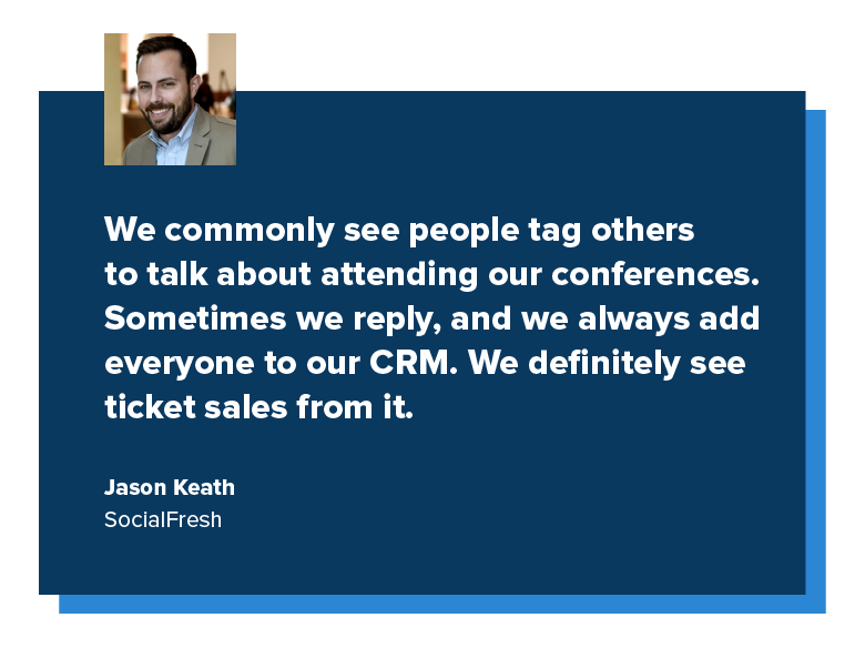 quote from jason keath associated with social fresh
