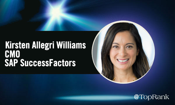 Interview Kirsten Allegri Williams CMO SAP SuccessFactors