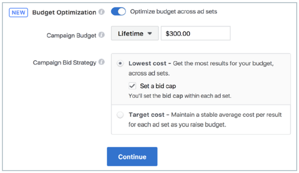 Facebook lets you cap ad spending to help continue being within a reasonable budget