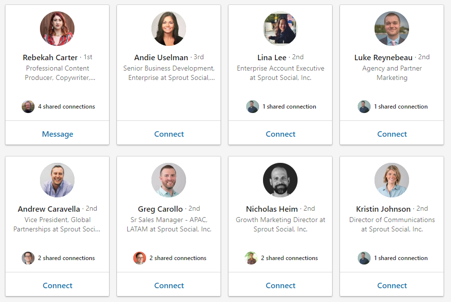 LinkedIn is great for social media pertaining to sales when it comes to finding individual workers to reach out to