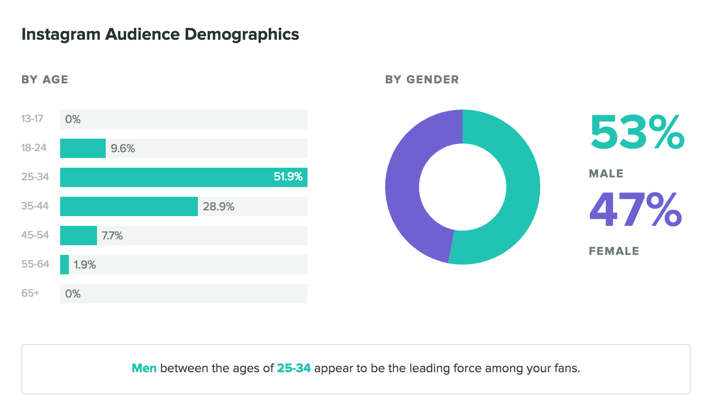 instagram audience demographic report through sprout