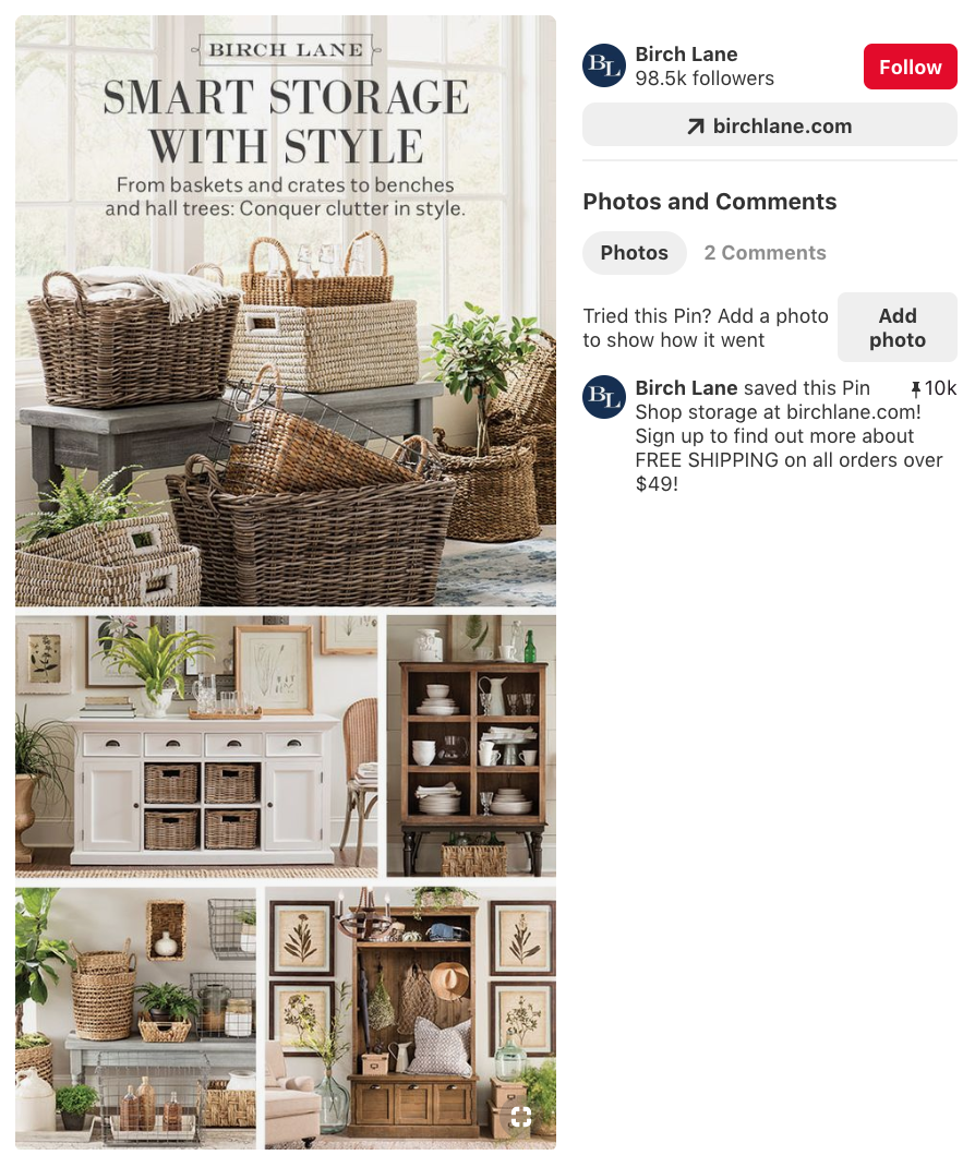 pinterest pin caption with bold text