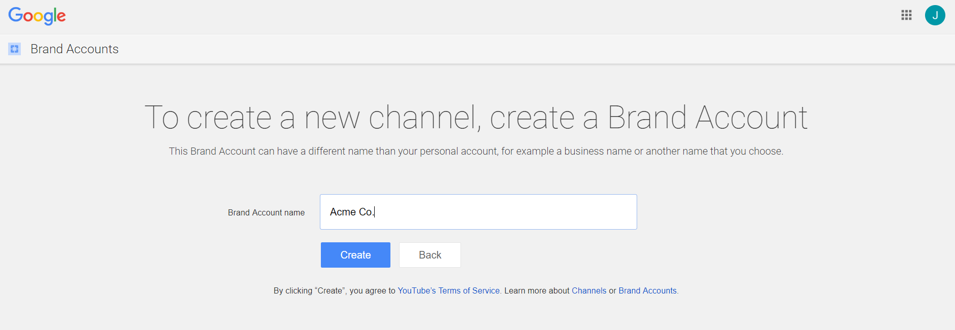 Here's how to create a YouTube brand name account versus a personal one