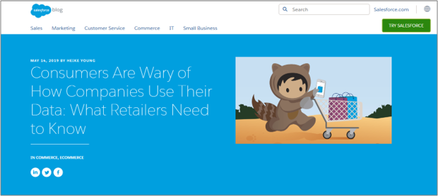Content Curation Example from Salesforce