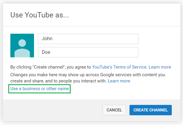 You can either function a YouTube account under a private account or business profile
