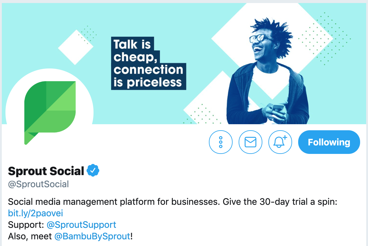 Twitter bio ideas - Sprout Social