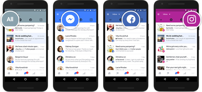 single inbox for facebook-related messages