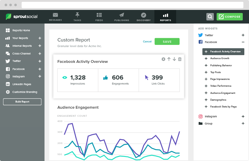 sprout report builder
