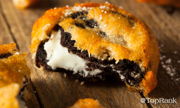 Fried oreo image.