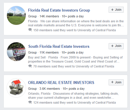 Facebook groups ar e a fantastic place for real estate businesses to network and uncover new clients