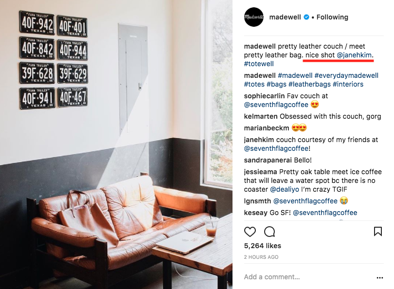 madewell influencer example