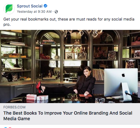 sprout facebook example