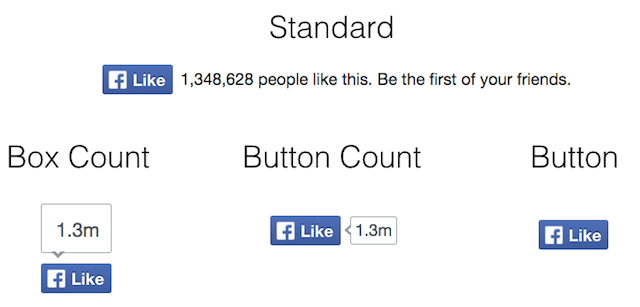 """Selection of Facebook """"Like"""" buttons"""