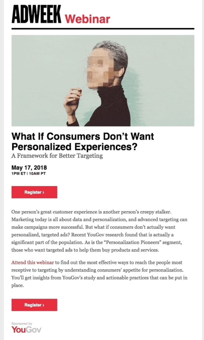 AdWeek Email Marketing Example