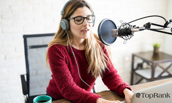 Podcasting Woman Image