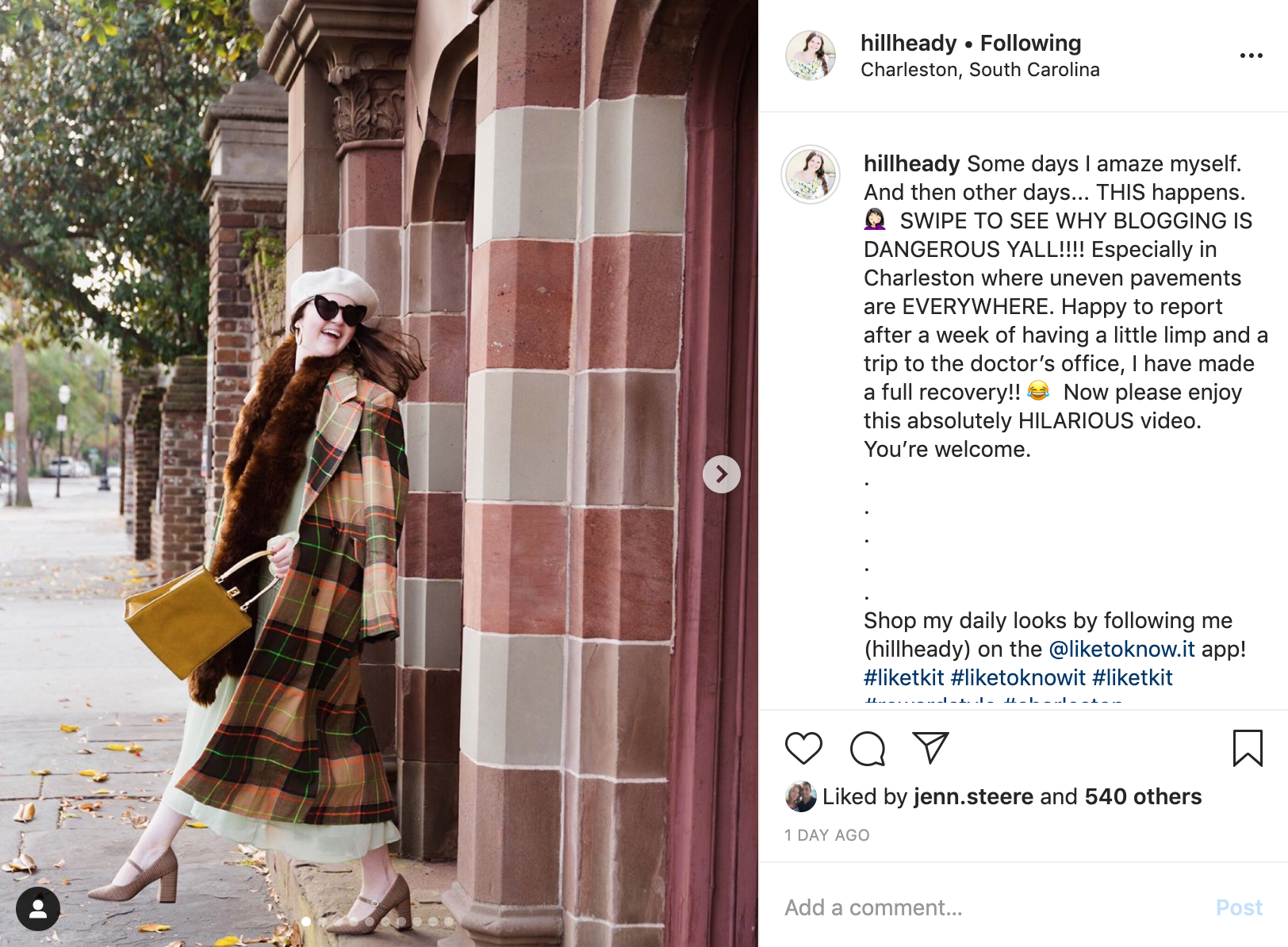 instagram trends - @hillheady authenticity post