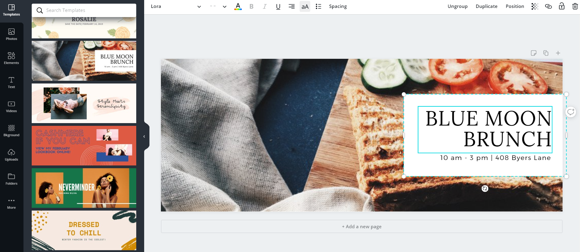 Canva allows you to create cover images for your Facebook business page in minutes