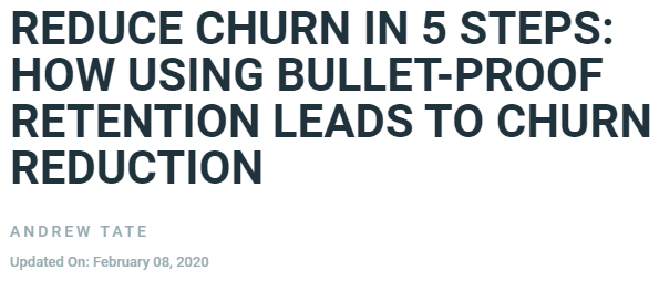 headline writing for a specific audience example from Profitwell